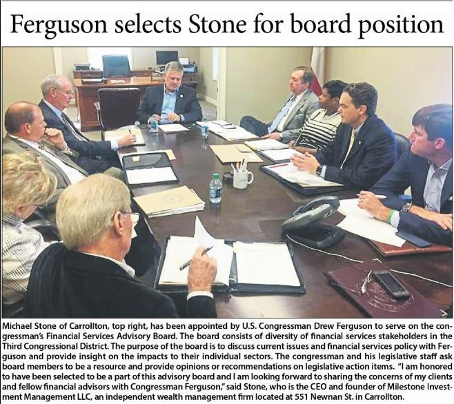 Ferguson selects Michael Stone of Carrolton for board position